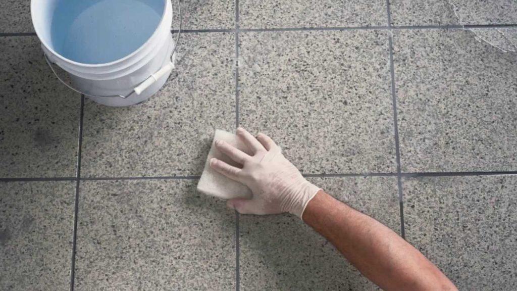 Отмыть эпоксидную фугу/затирку с плитки